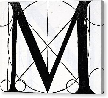 Capital Canvas Print - Letter M by Leonardo Da Vinci