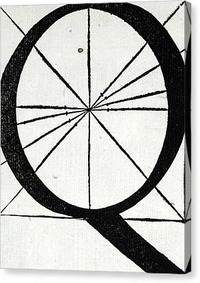Divine Proportions Canvas Print - Letter Q by Leonardo Da Vinci
