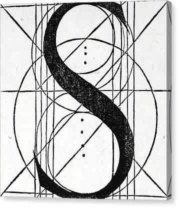 Divine Proportions Canvas Print - Letter S by Leonardo Da Vinci