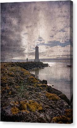Letter To Lighthouse Canvas Print