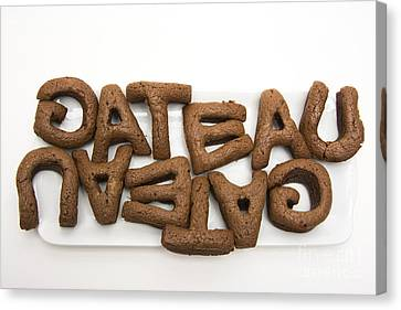 Letters Of A French Cake Canvas Print