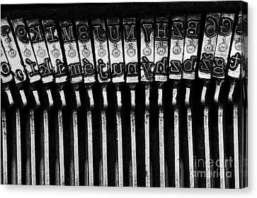 Letters Old Typewriter Canvas Print