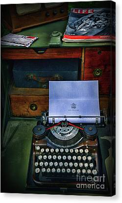 Letters To Home Canvas Print by Paul Ward