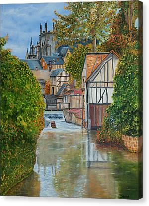 L'eure A Louviers -  France Canvas Print