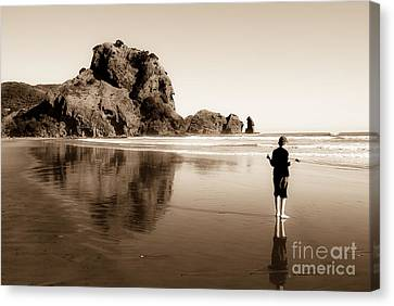 Canvas Print featuring the photograph Lev And The Lion Rock  by Yurix Sardinelly
