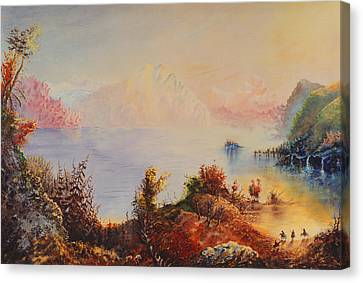 Lewis And Clark Canvas Print by Richard Barham