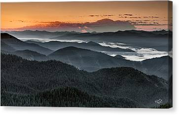 Lewis And Clark Route Canvas Print by Leland D Howard