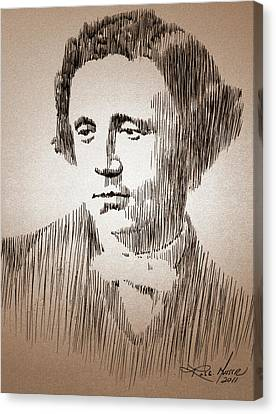 Lewis Carroll Canvas Print by Robbi  Musser