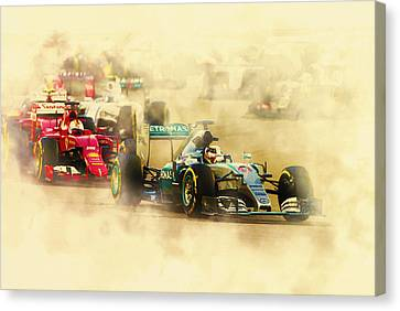 Lewis Hamilton Leads Again Canvas Print