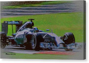 Lewis Hamilton Canvas Print by Marvin Spates