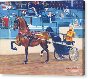 Pleasure Driving Canvas Print - Lexie Ellsworth And Whispering War Chant by Candace Lovely
