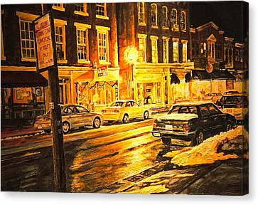 Lexington Street Light Canvas Print by Thomas Akers