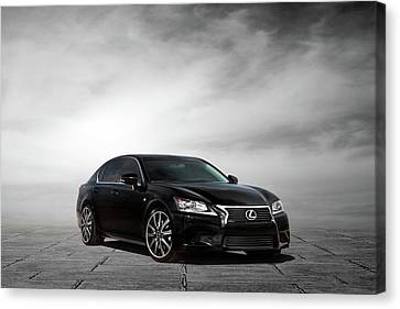 Canvas Print featuring the digital art Lexus Gs350 F Sport by Peter Chilelli