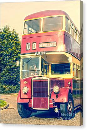Leyland Double Decker Bus Canvas Print by Linsey Williams