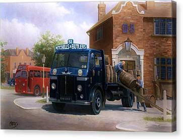 Leyland Dray. Canvas Print by Mike  Jeffries