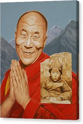 Lhamo Thondup Becomes Kundun Canvas Print by Shawn Shea