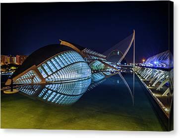 L'hemisferic In Valencia Canvas Print