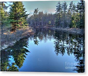 Canvas Print featuring the photograph L'heure Bleu by Betsy Zimmerli