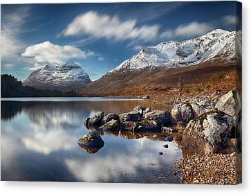 Canvas Print featuring the photograph Liathach by Grant Glendinning