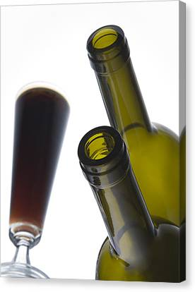 Wine-bottle Canvas Print - Libation 3 by Patrick Ziegler