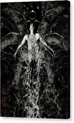 Male Angel Canvas Print - Liberation by Cambion Art
