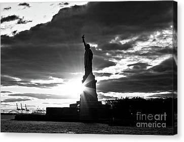 Canvas Print featuring the photograph Liberty by Ana V Ramirez
