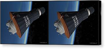 Liberty Bell 7 - Gently Cross Your Eyes And Focus On The Middle Image Canvas Print by Brian Wallace