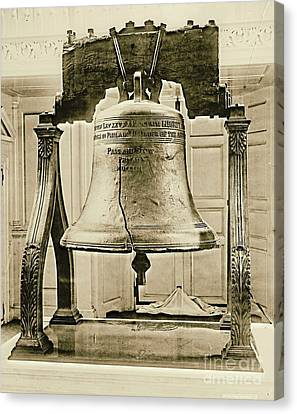 Liberty Bell At Independence Hall 1901 Canvas Print by Padre Art