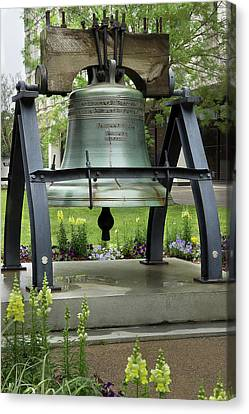 Canvas Print featuring the photograph Liberty Bell Replica by Mike Eingle