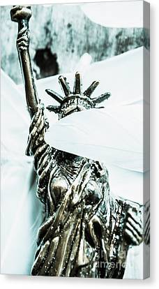 Liberty Blinded By Corruption Canvas Print by Jorgo Photography - Wall Art Gallery