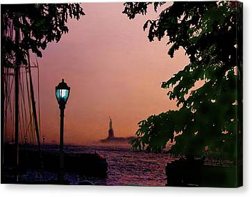Liberty Fading Seascape Canvas Print by Steve Karol