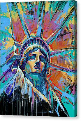 Liberty In Color Canvas Print by Damon Gray