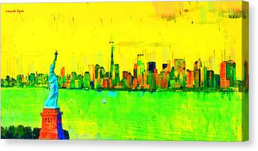 Liberty In New York - Pa Canvas Print by Leonardo Digenio