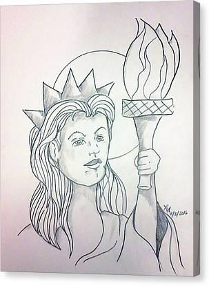 Liberty Canvas Print by Loretta Nash