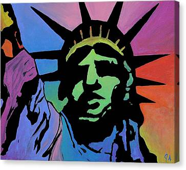 Liberty Of Colors Canvas Print by Jeremy Aiyadurai