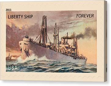 Liberty Ship Stamp Canvas Print
