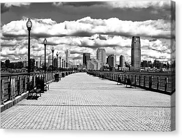 Liberty State Park Pier Canvas Print by John Rizzuto