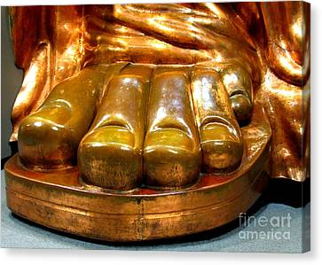 Liberty Toes Canvas Print by Randall Weidner