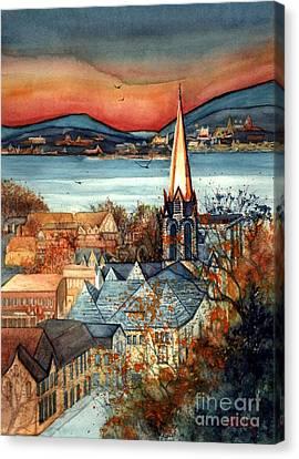 Liberty's Light - Newburgh Ny Canvas Print
