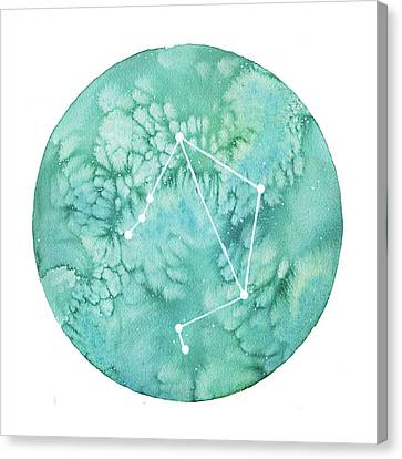 Zodiac Signs Canvas Print - Libra by Stephie Jones