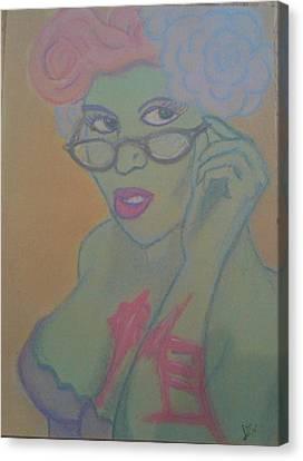 Librarian Zombie Canvas Print by Jason Longbrake