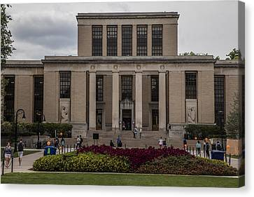 Library At Penn State University  Canvas Print by John McGraw