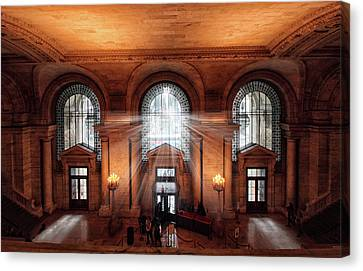Library Entrance Canvas Print by Jessica Jenney