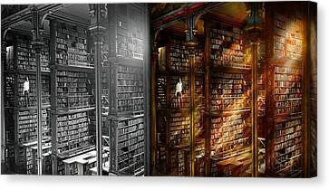 Library - It Starts With A Single Page 1920 - Side By Side Canvas Print by Mike Savad