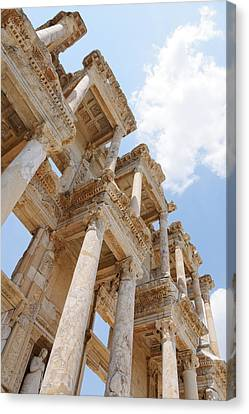 Library Of Celsus Canvas Print - Library Of Celsus by Darin Volpe