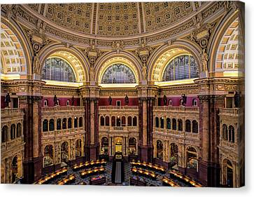 Historic Architecture Canvas Print - Library Of Congress by Andrew Soundarajan