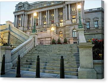 Canvas Print featuring the photograph Library Of Congress by Greg Mimbs