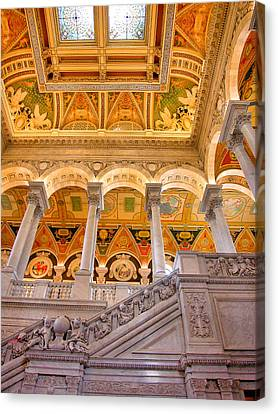 Library Of Congress II Canvas Print by Steven Ainsworth