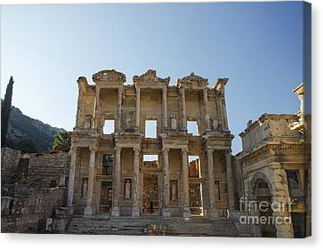 Library Of Celsus Canvas Print - Library Of Ephesus Or Celsus by Yuri Santin