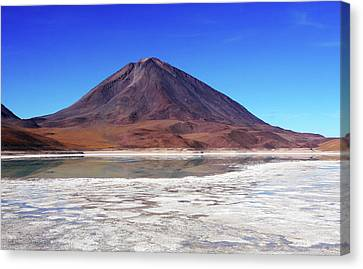 Canvas Print featuring the photograph Licancabur Volcano, Bolivia by Aidan Moran